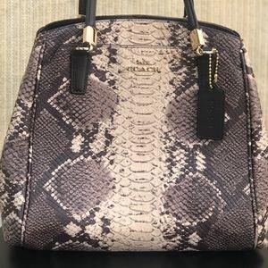 NWOT Coach Python embossed satchel